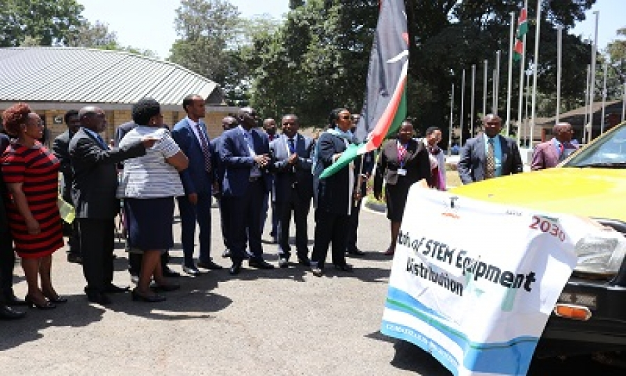 CS Amina Flags off the 3rd Batch of STEM Equipment Distribution