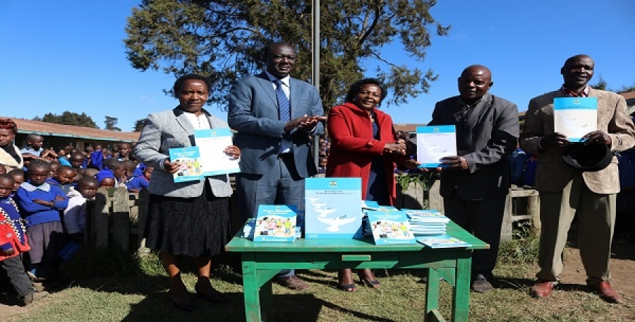 St.Christopher primary school, receive Peace Donation Books in Nyandarua county from CEMASTEA